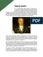 Biografia Johann Wolfgang Goethe