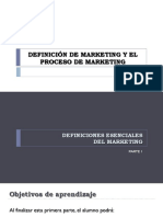 Definición y Proceso de Marketing