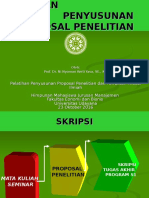 Presentasi Pelatihan Penyusunan Proposal - 23 Oktober 2016