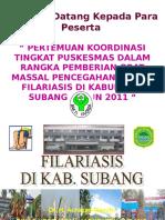 Kebijakan & Situasi Filaria Thn 2011