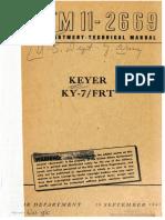 TM11-2669 Keyer KY 7 FRT, 1945