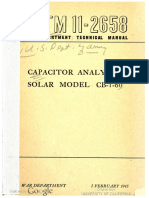 TM11-2658 Capacitor Analyzer, Solar Model CB-1-60, 1945