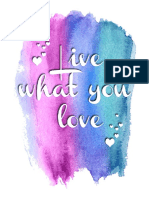 Live What You Love_lettering