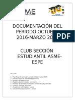 Documentación Del Periodo Octubre 2016