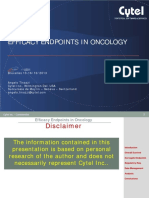 efficacy Endpoints in Oncology