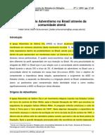 A História Do Adventismo No Brasil