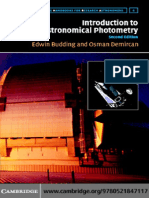 Budding - Introduction to Astronomical Photometry