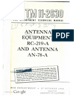 TM11-2630 Antenna Equipment RC-219A and Antenna an-78-A 1944