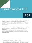 8.1 Lineamientos CTE