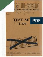 TM11-2600 Test Set I-179, 1944