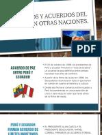 Tratados y Acuerdos Del Perú Con Otras Naciones