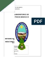 Informe de Inductancia 1 Umsa