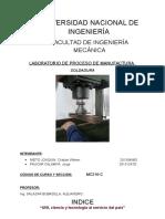 Informe de Manufactura Procesos de Soldadura