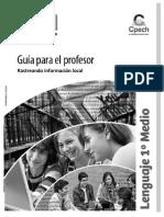 GPR Rastreando Información Local Primero Medio