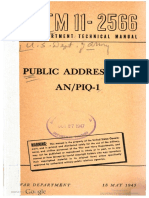 TM11-2566 Public Address Set an PIQ-1, 1945