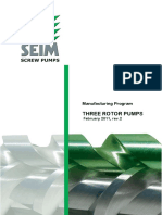 SEIM Manufacturing Program Screw Pumps Febr.2011 Rev.2a