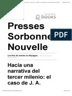 Les fins de siècles en Espagne - Hacia una narrativa del tercer milenio