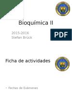 Bioquímica II - Clase 1 Introduccion Al Metabolismo