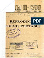 TM11-2561 Reproducer, Sound, Portable, 1944