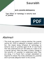 Presentation on Juvenile Delinquency
