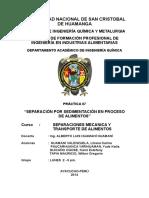 Práctica 7 - Separación Por Sedimentación en Proceso de Alimentos (1)