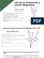 Correcciones de La Inclinación y Declinación Magnética