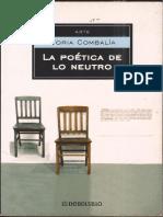 Victoria Combalia - La Poética de Lo Neutro