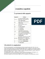 Appunti Di Grammatica Spagnola