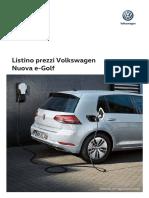 Listino Volkswagen E-Golf
