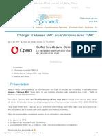 Changer d'Adresse MAC Sous Windows Avec TMAC _ Logiciels _ IT-Connect