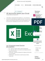 40 Raccourcis Clavier Pour Excel