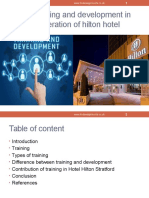 Role of Training and Development in Effective Operation of Hilton Hotel