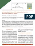 Determination of Factors Affecting Individual Investor Behaviours