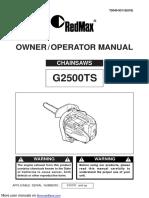 Manual Zenoah G2500TS