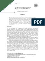 Factors Influencing Individual Investor Behavior (the Case of the Karachi Stock Exchange)