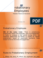 probationary employees-probation period and standards