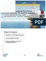 Achieving Operational Excellence in the Upstream Oil and Gas Industry with the help of Rolta OneView and SAP software