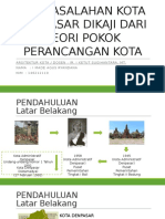 Permasalahan Kota Denpasar Dikaji Dari Teori Pokok Perancangan