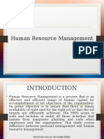 A Sample PPT on Human Resource Management by Instant Essay Writing