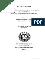 Pembuatan Asam Fenil Asetat Dari Benzil Sianida Dan Asam Sulfat