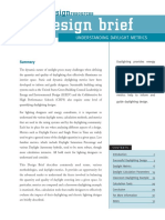Design Brief Understanding Daylight Metrics