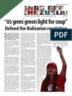Hands Off Venezuela Newsletter April 2017