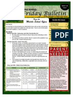 MS Parent Bulletin (Week of April 24 to 28)