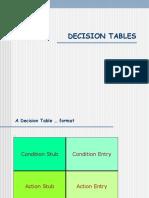 9 Decision Tables