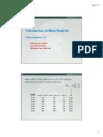 5How to Analyze Meta-Analytic Data Stage II