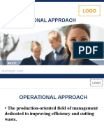 Operational Approach in Management