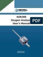 ZircOxide XZR200 Manual