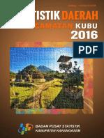 Statistik Kec. Kubu 2016