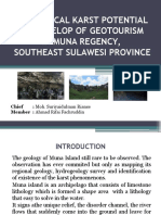 Geological Karst Potential to Develop of Geotourism
