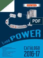 201701 Gewiss Catálogo Power 2016-17